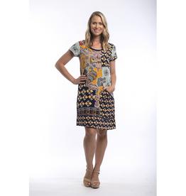 Orientique Andalucia Patch Short Sleeve Dress