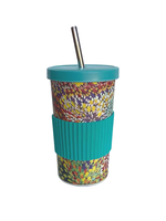 Utopia Large Tumbler Straw/Lid - Janelle Stockman 129