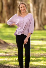 Boho Australia Cheryl Oversized Top in Lilac