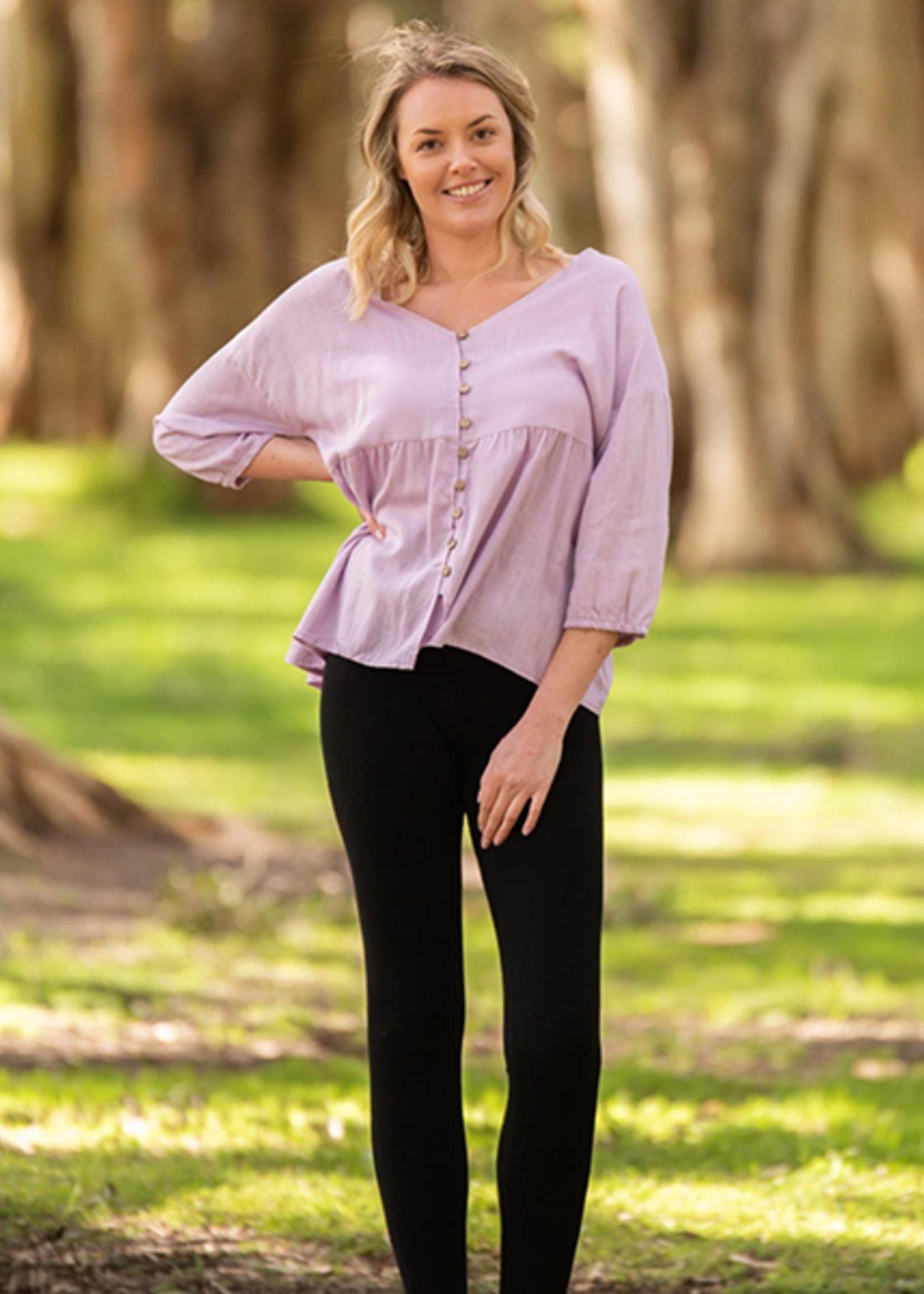 Boho Australia Cheryl Oversized Top in Lilac