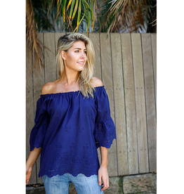 Boho Australia Dover Top in Navy