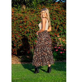 Boho Australia Oakes Tier Skirt in Brown