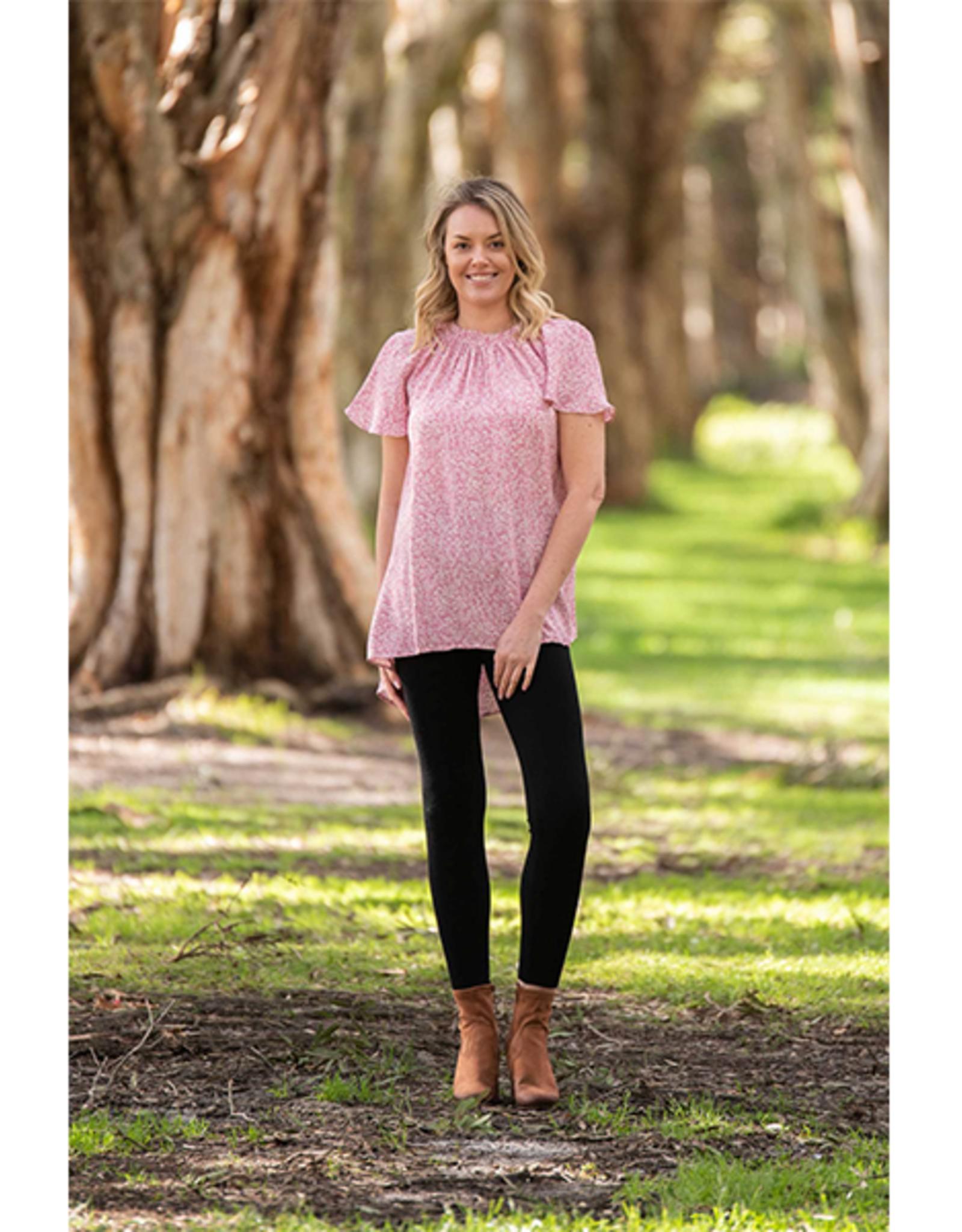 Boho Australia Luciana Top in Rose