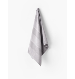 Linen House Bath Towel Velour Stripe in Silver