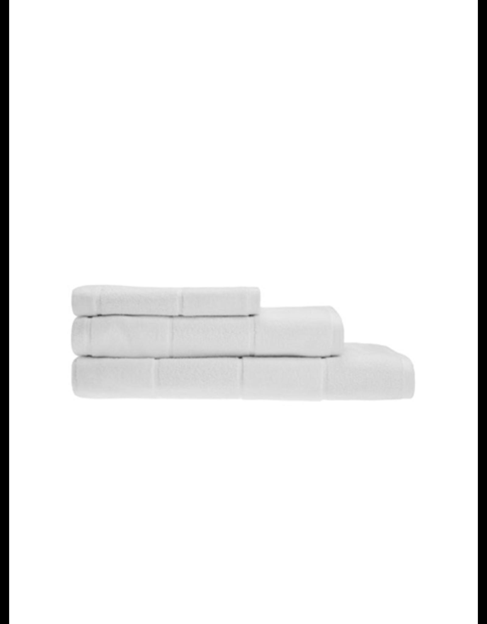 Linen House Bath Towel Velour Stripe White