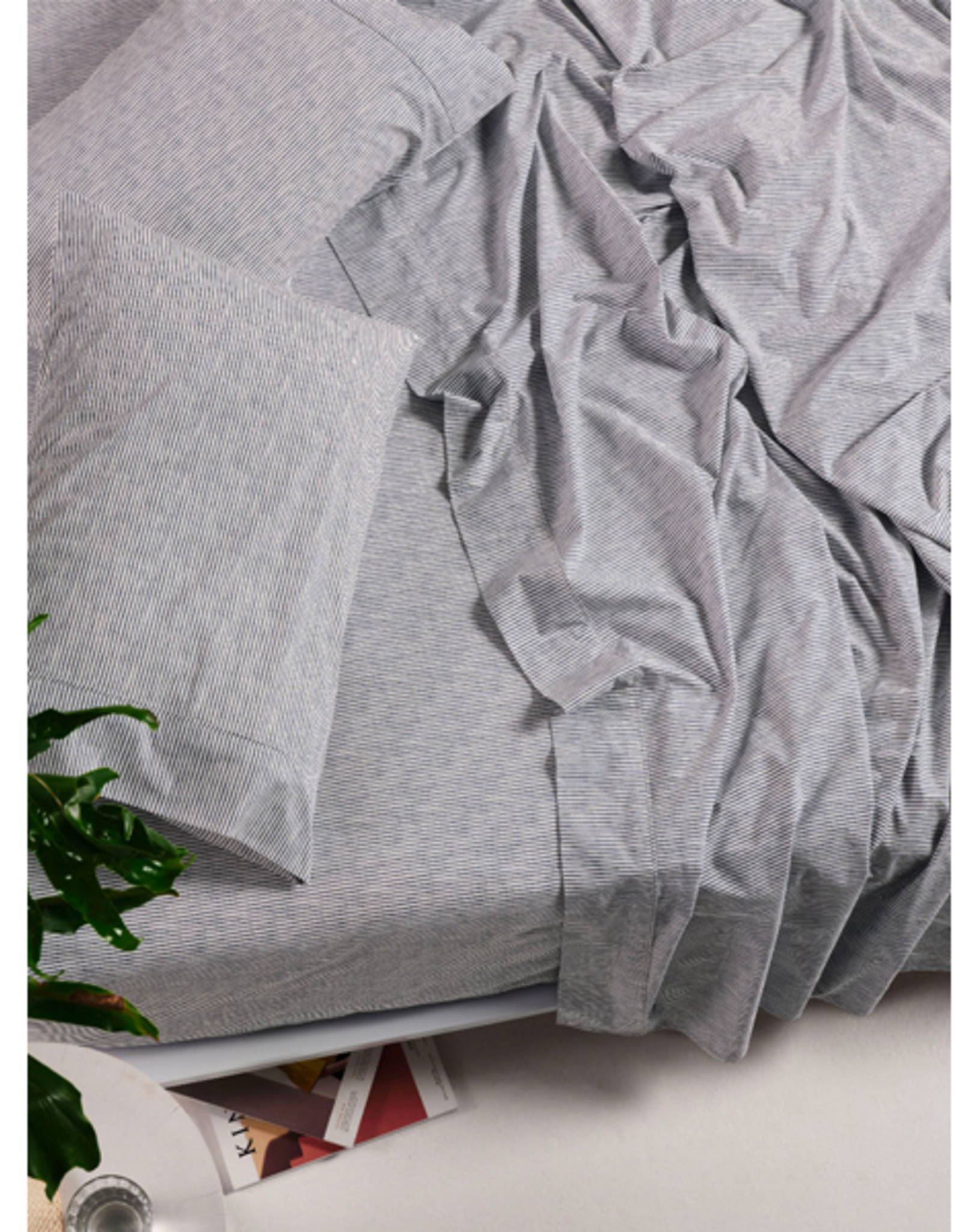 Linen House QB Sheet Set Sadie Bluestone