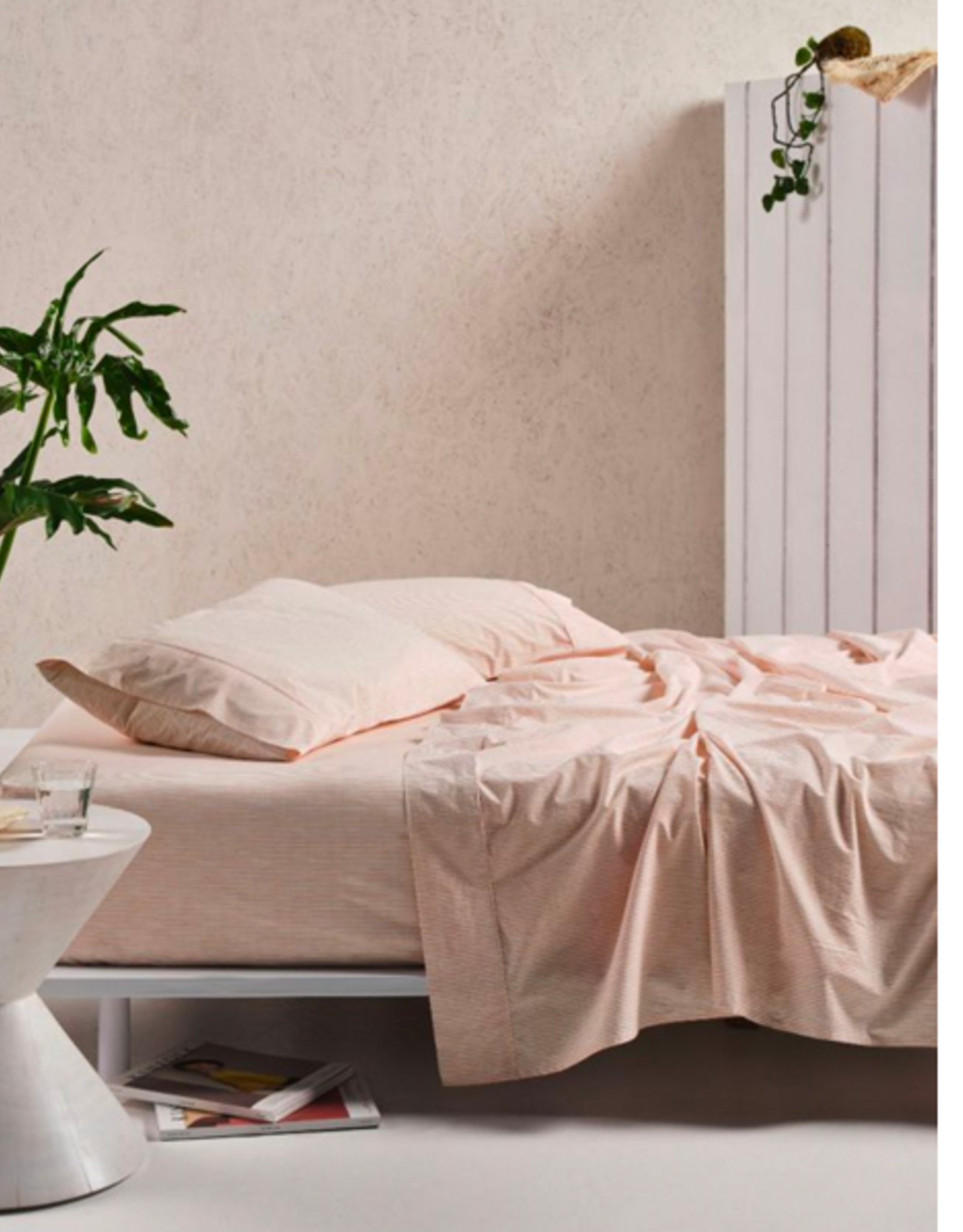 Linen House QB Sheet Set Sadie Sadie Peach