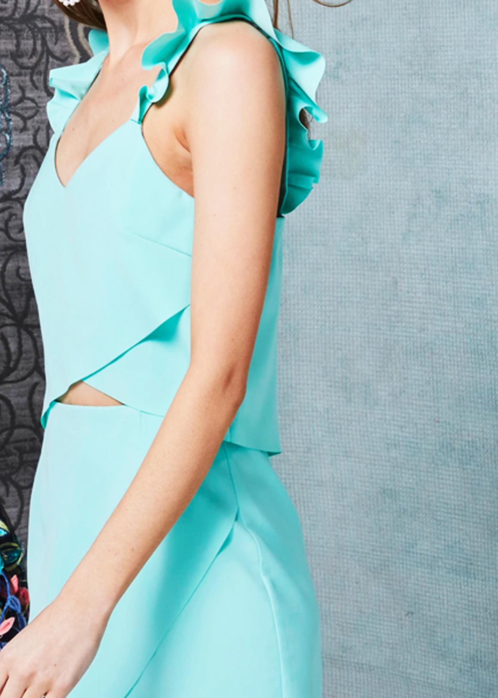 Elliatt Ruffle Tulip Dress - Mint