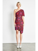Elliatt Cosmic Dress - Red Multi