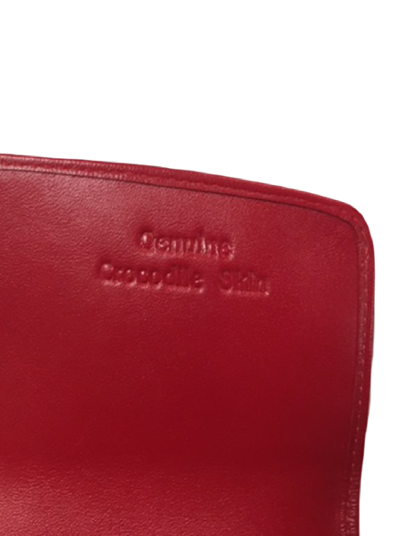 Crocodile & Stingray Products Ladies Crocodile Wallet - Red