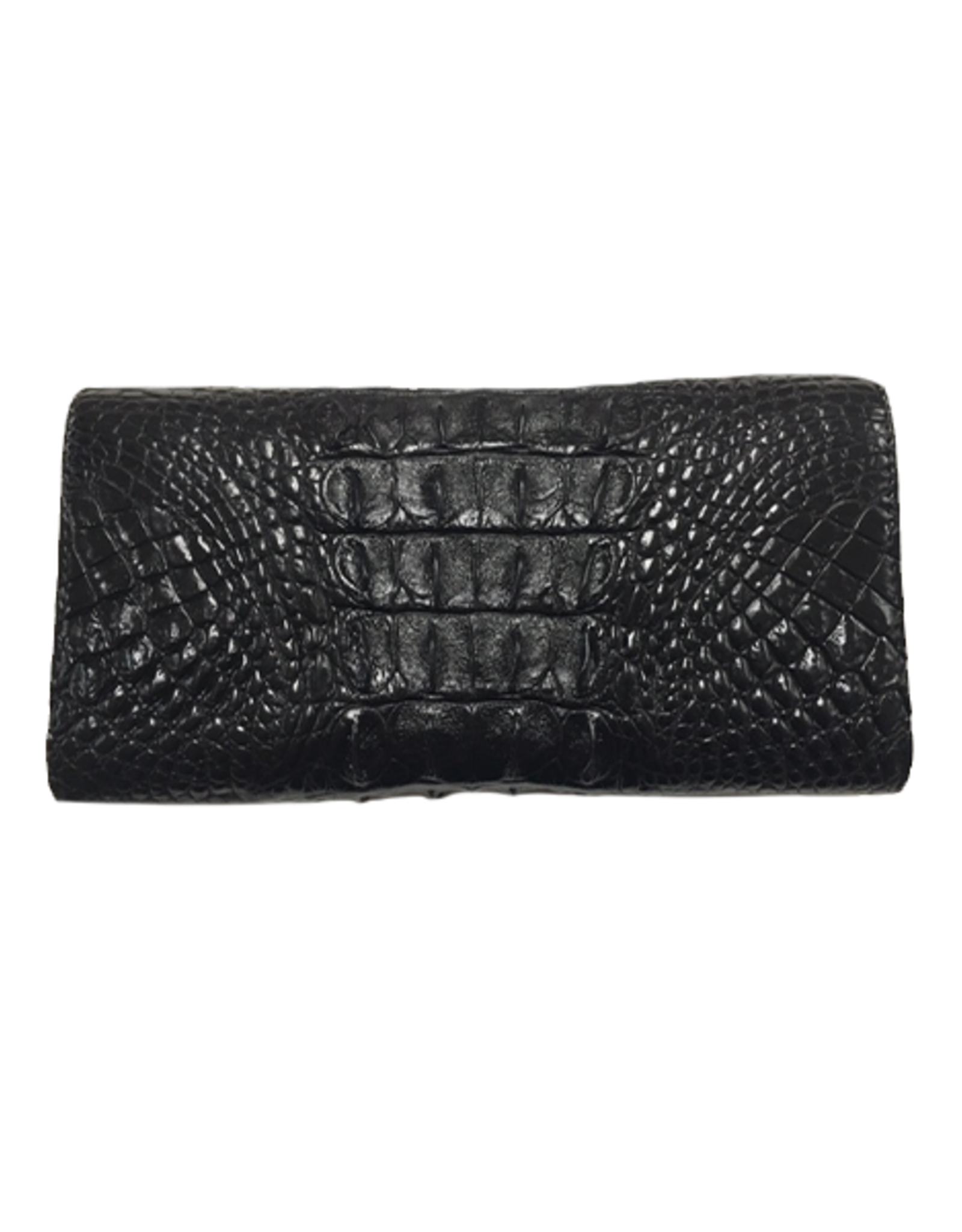 Crocodile & Stingray Products Ladies Crocodile Wallet - Black