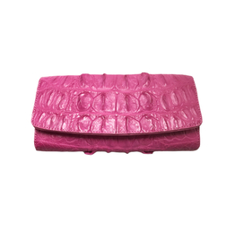 Crocodile & Stingray Products Ladies Crocodile Wallet - Pink