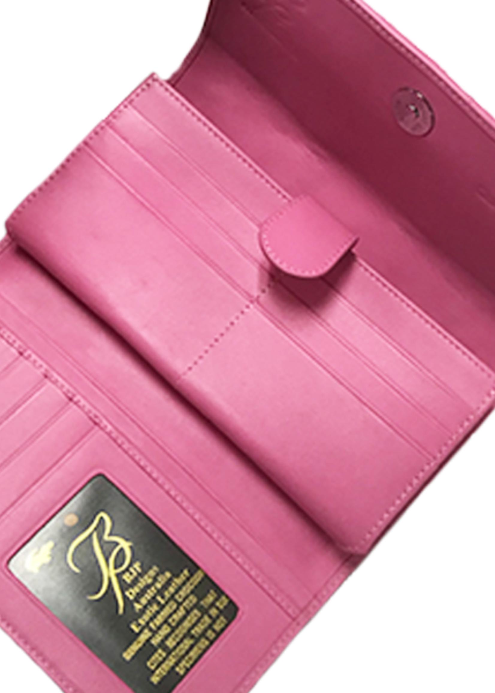 Crocodile & Stingray Products Ladies Crocodile Wallet - Pink