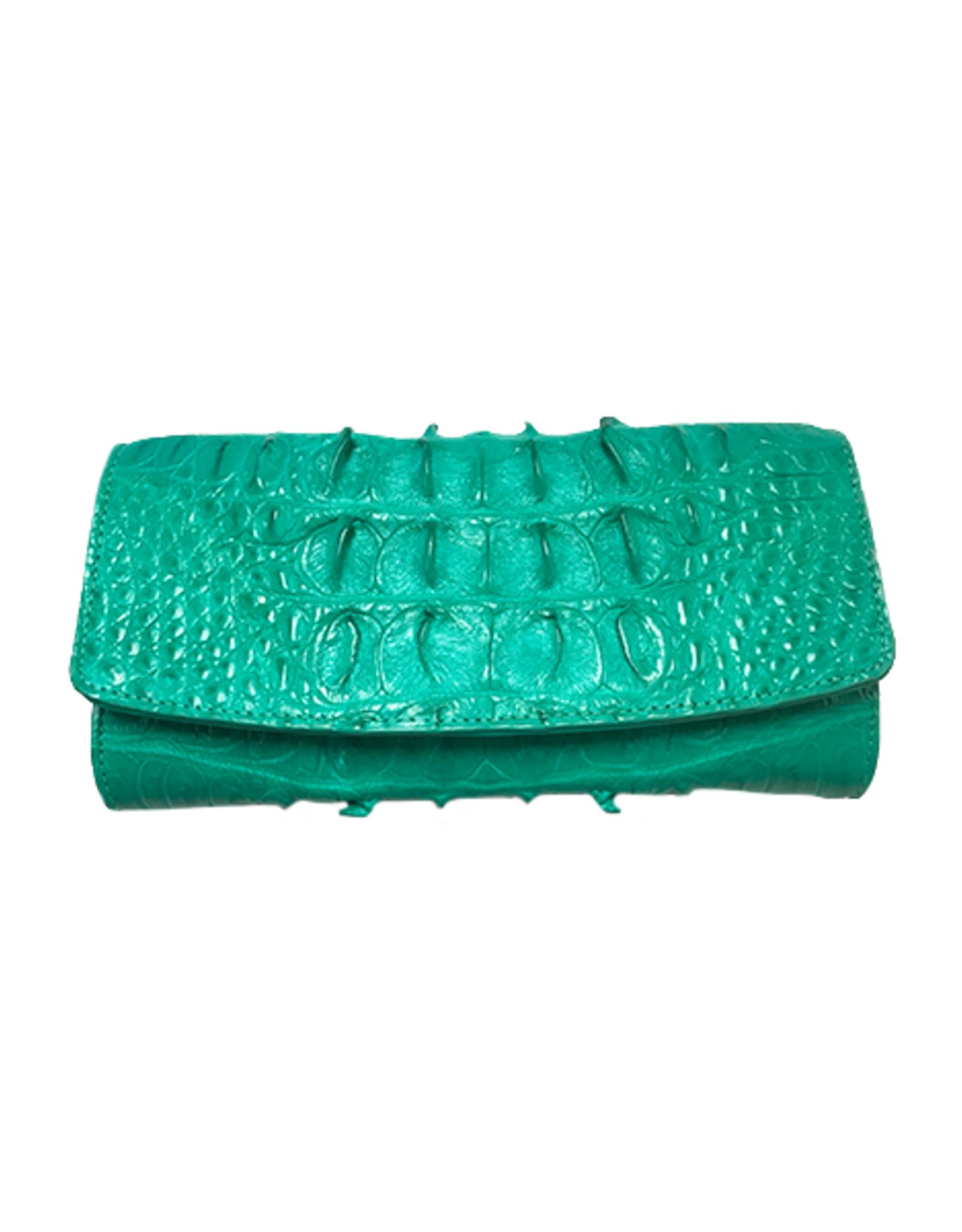 Crocodile & Stingray Products Ladies Crocodile Wallet in Green