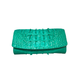 Crocodile & Stingray Products Ladies Crocodile Wallet in Green