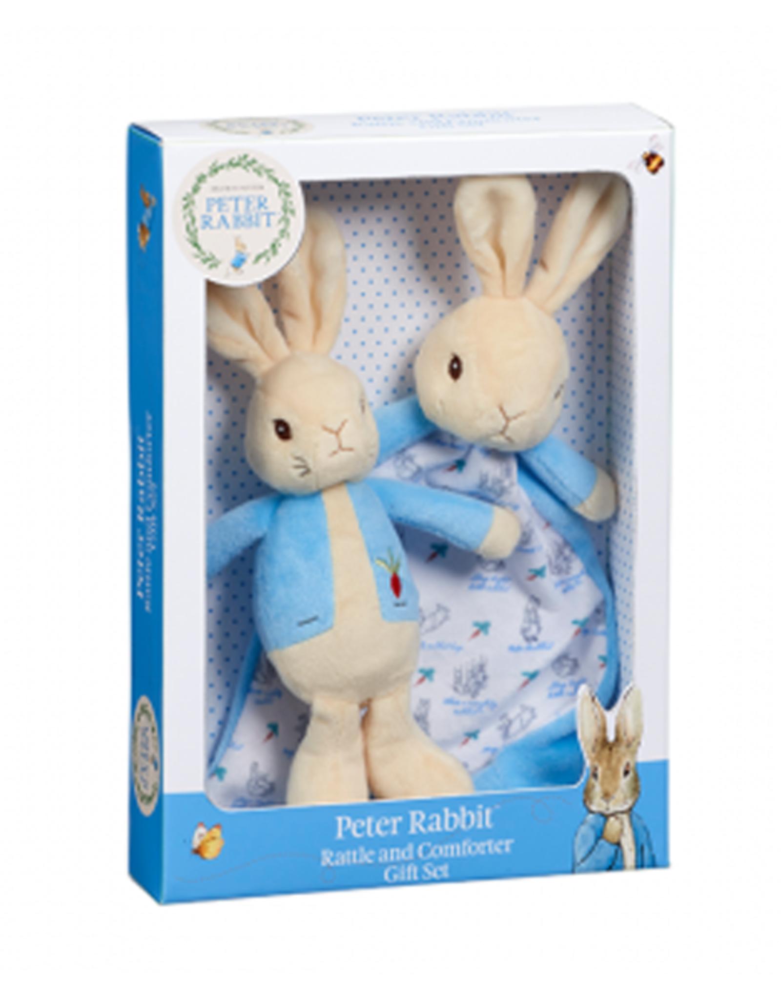 Beatrix Potter Peter Rabbit Rattle & Comfort Blanket Gift Set