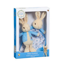 Beatrix Potter Peter Rabbit Rattle & Comfort Blanket Gift Set