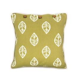 Craft Studio Leaf Print Burnt Lichen Cushion Cover 40x40cm