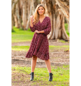 Boho Australia Mandy Dress in Wine