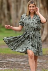 Boho Australia Whitley Dress in Avo