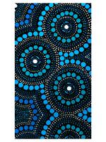 Large Beach or Travel Towel 160x90cm - Aussie Dreamtime