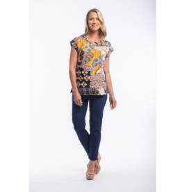 Orientique Andalucia Top Round Neck Short Sleeve 22678