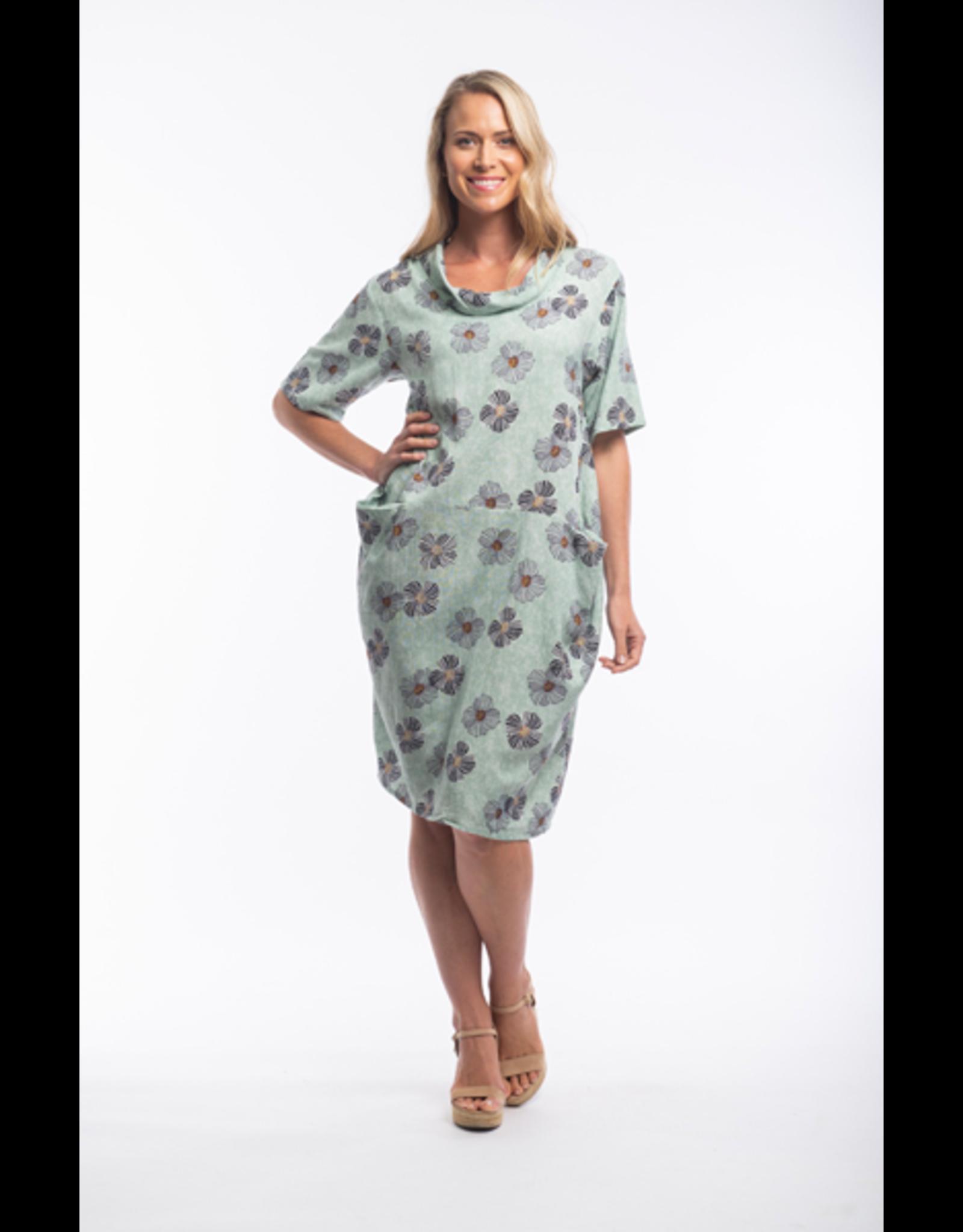 Orientique Andalucia Dress Coul Neck Bubble  21368