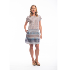 Orientique Alcazar Dress Short Sleeve Boat Neck 51638