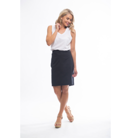 Orientique Bangalene Pencil Skirt in Black