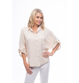 Orientique Essentials Blouse Linen in Sand 62427