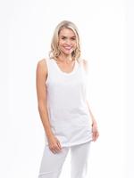 Orientique Essentials Knit Cami in White 11340