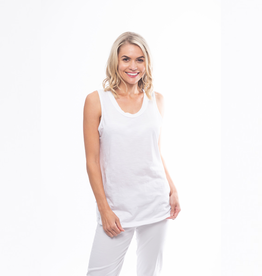 Orientique Essentials Knit Cami in White 11340
