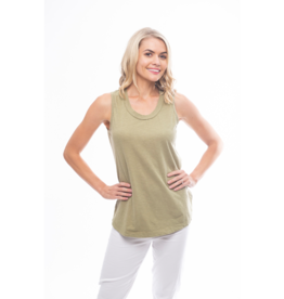Orientique Essentials Knit Cami in Khaki 11340