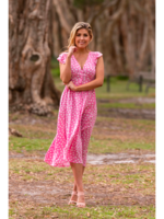 Boho Australia Tatu Maxi Dress in Pink