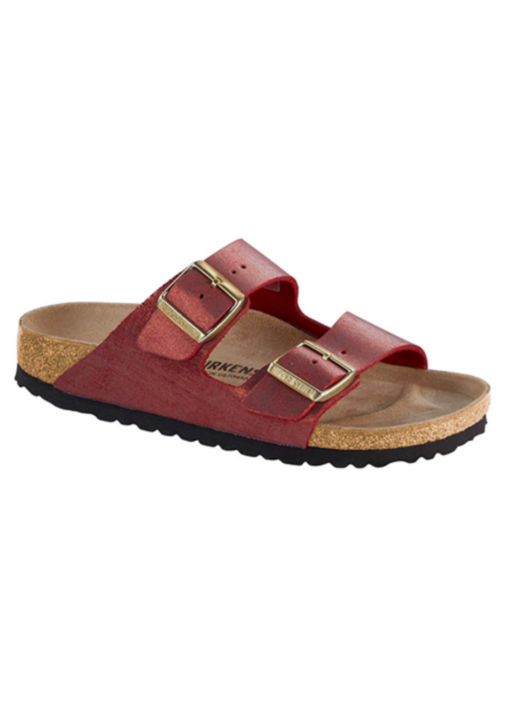 Birkenstock Arizona - Suede Leather in Washed Metallic Port (Classic Footbed - Suede Lined)