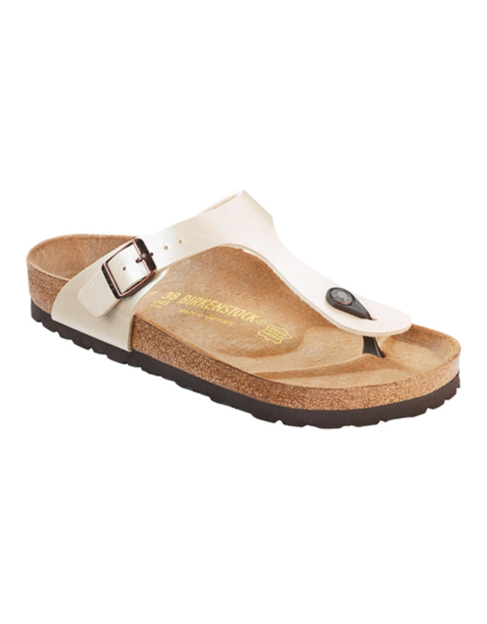 Birkenstock Gizeh -  Birko-Flor in Graceful Pearl White (Classic Footbed - Suede Lined)