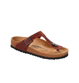 Birkenstock Gizeh -  NU Oiled Leather in Earth Red (Classic Footbed - Suede Lined)