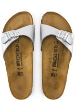 Birkenstock Madrid - Birko-Flor in Silver (Classic Footbed - Suede Lined)