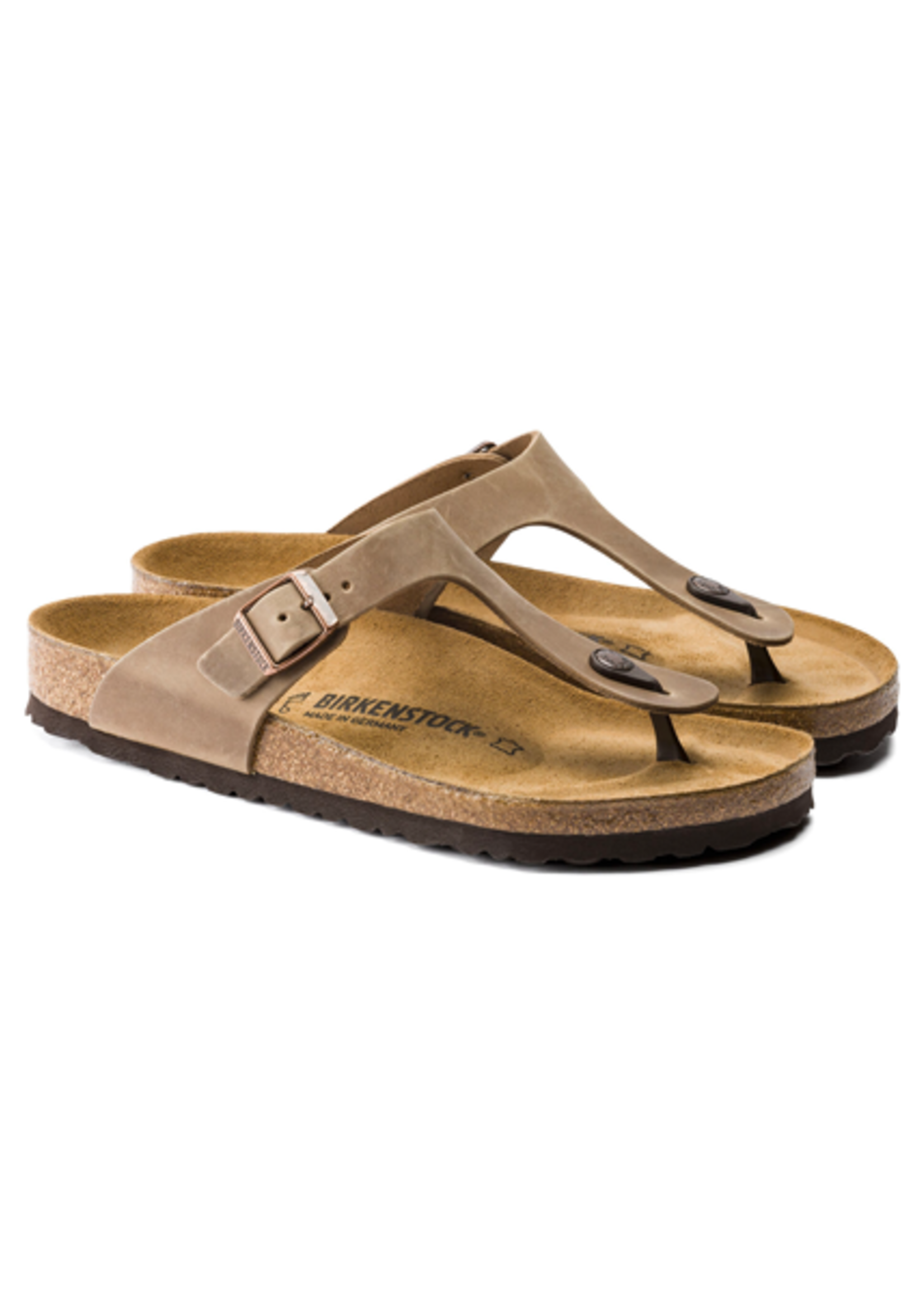 Birkenstock Gizeh -  Oiled Leather in Tobacco Brown (Classic Footbed - Suede Lined)