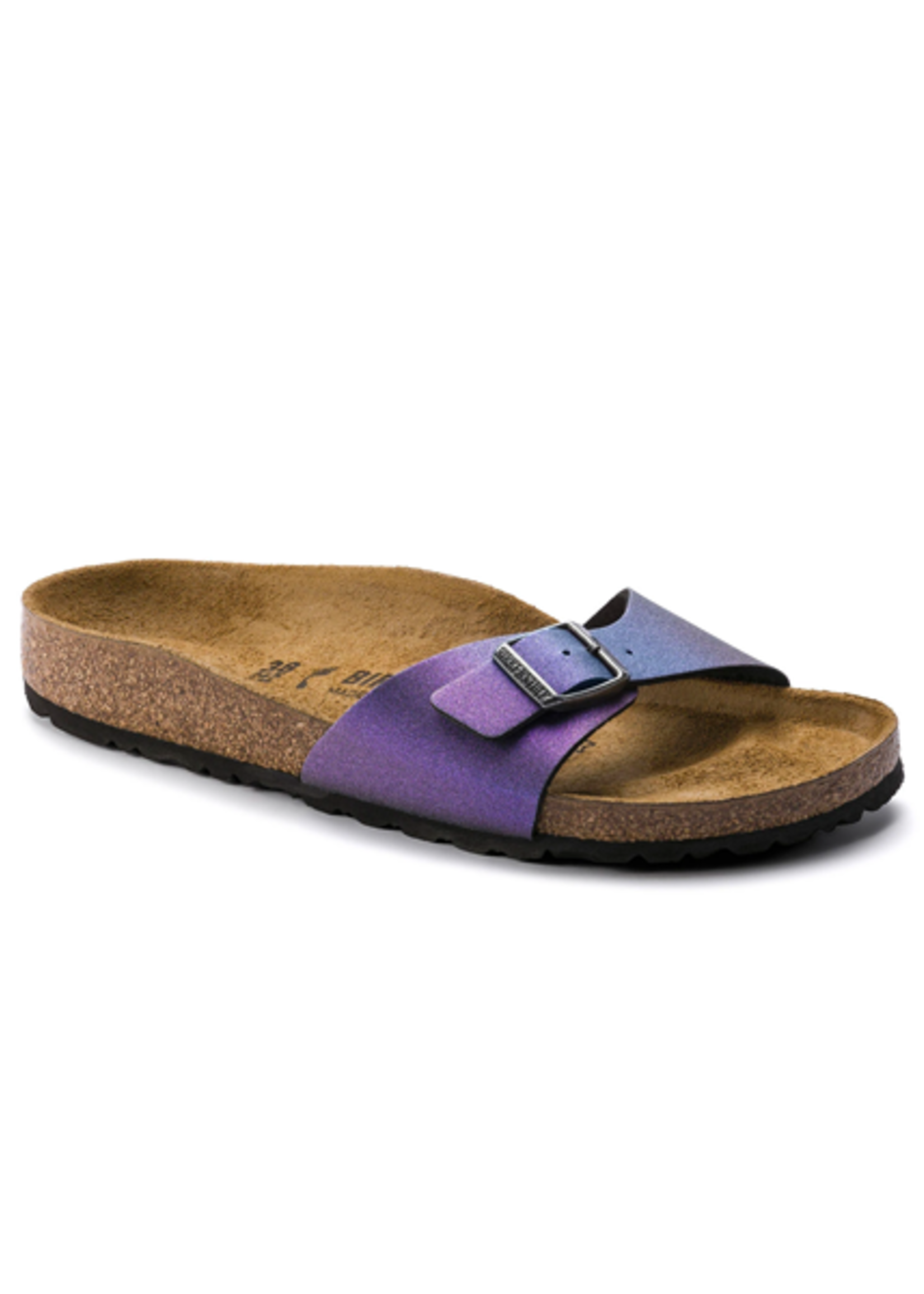 Birkenstock Madrid - Birko-Flor in Icy Metallic Violet (Classic Footbed - Suede Lined)