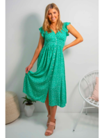 Boho Australia Aspra Midi Dress in Green
