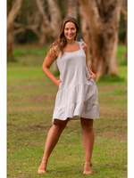 Boho Australia Vera Tier Dress in Stone