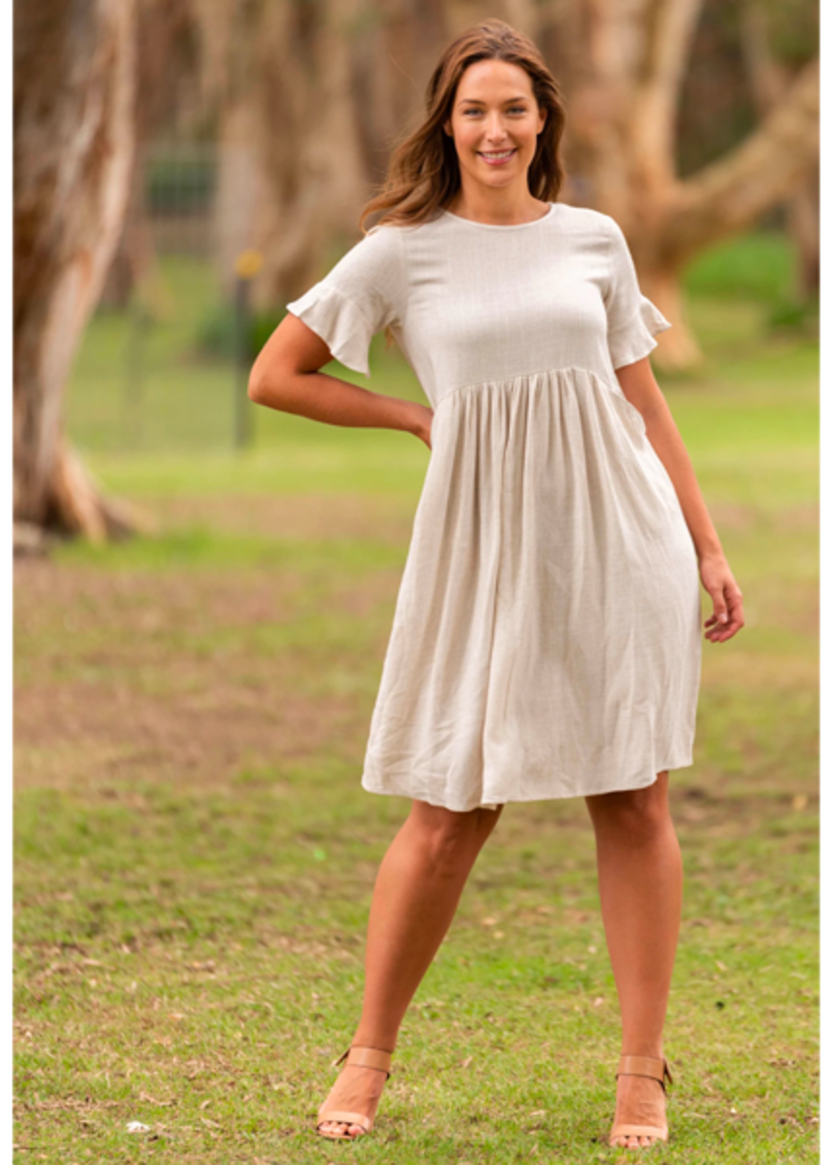 Boho Australia Dora Dress in Oatmeal