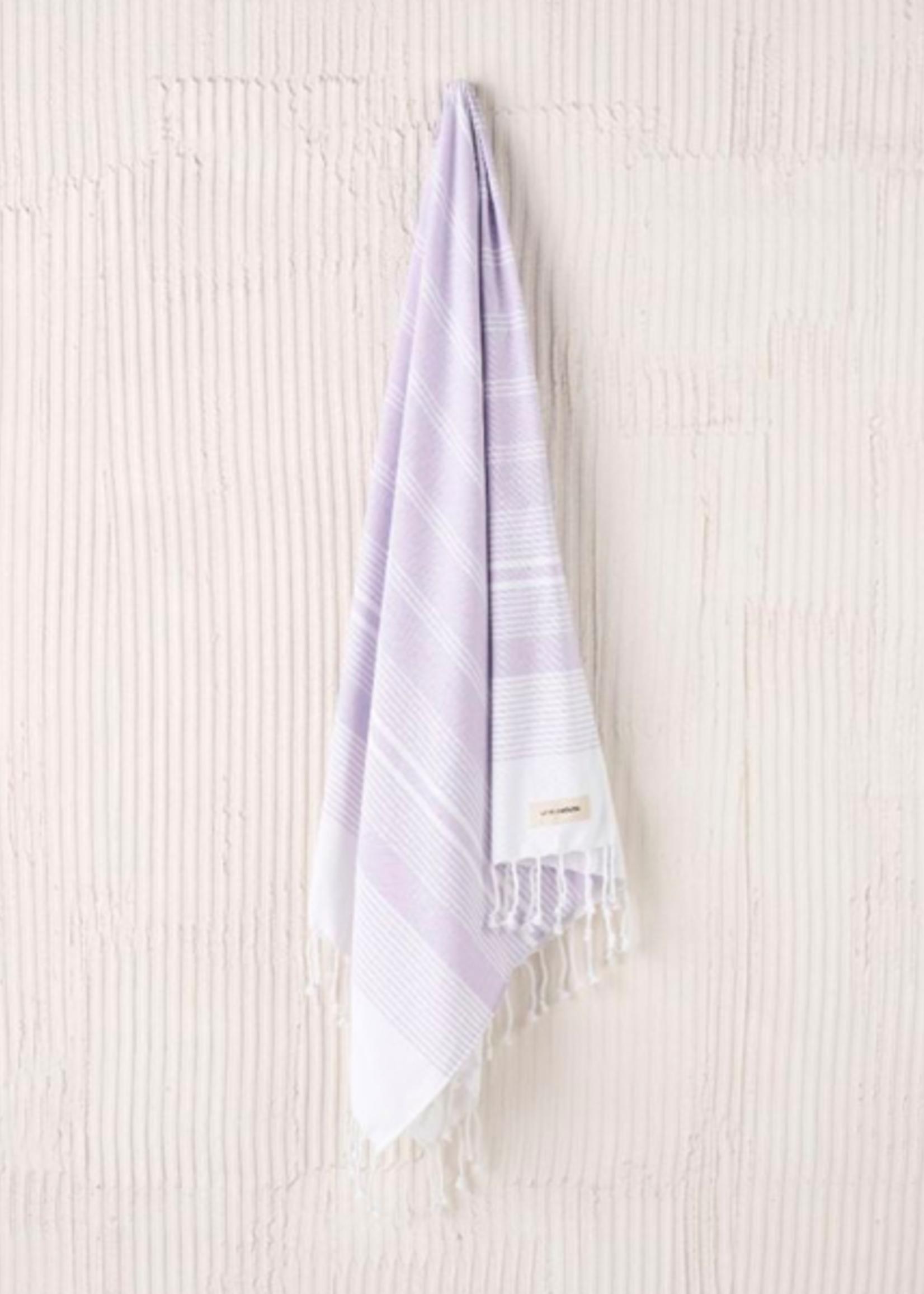Linen House LH Beach Towel Hammam Burleigh Lilac