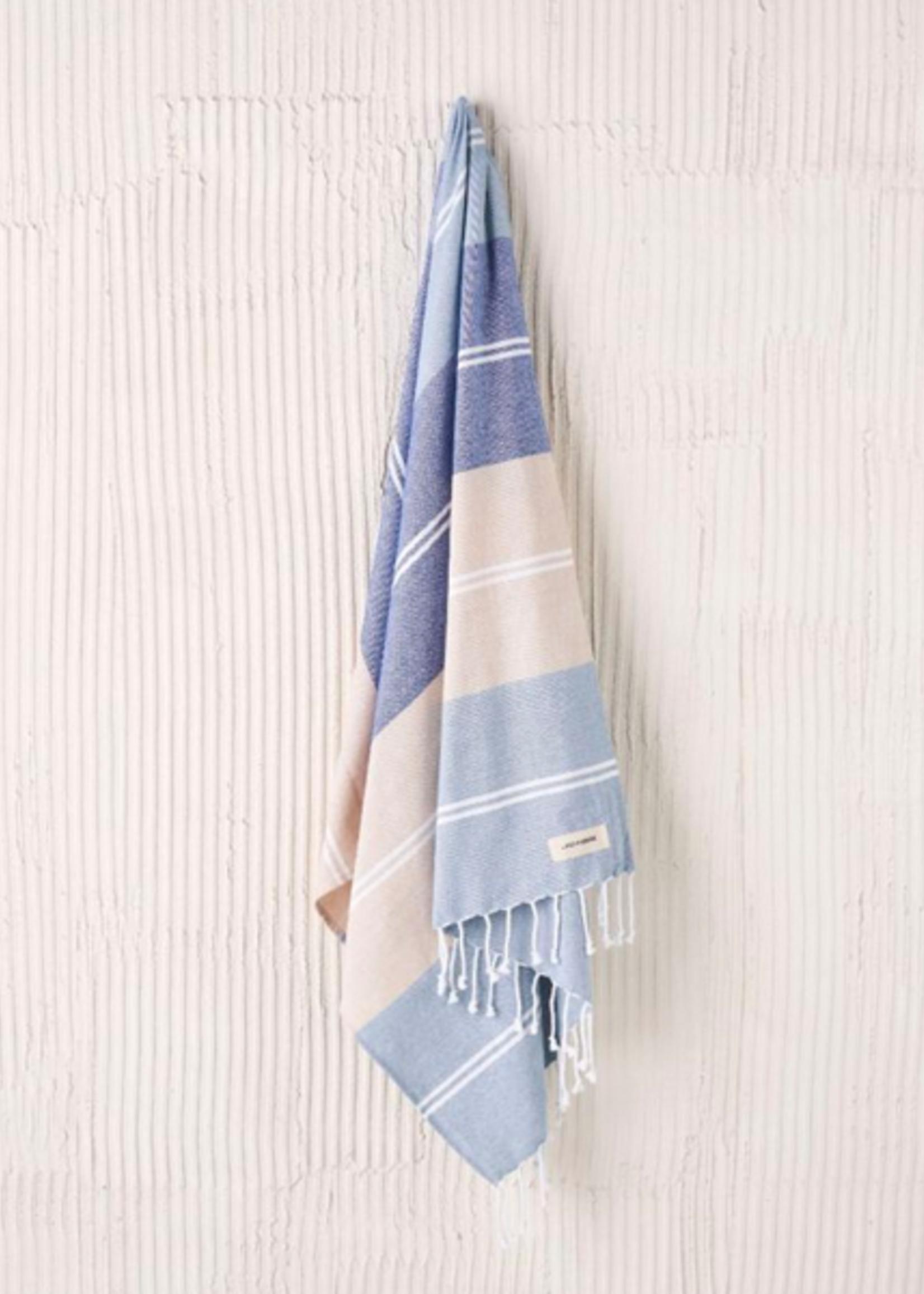 Linen House Beach Towel Hammam Freshwater Blue