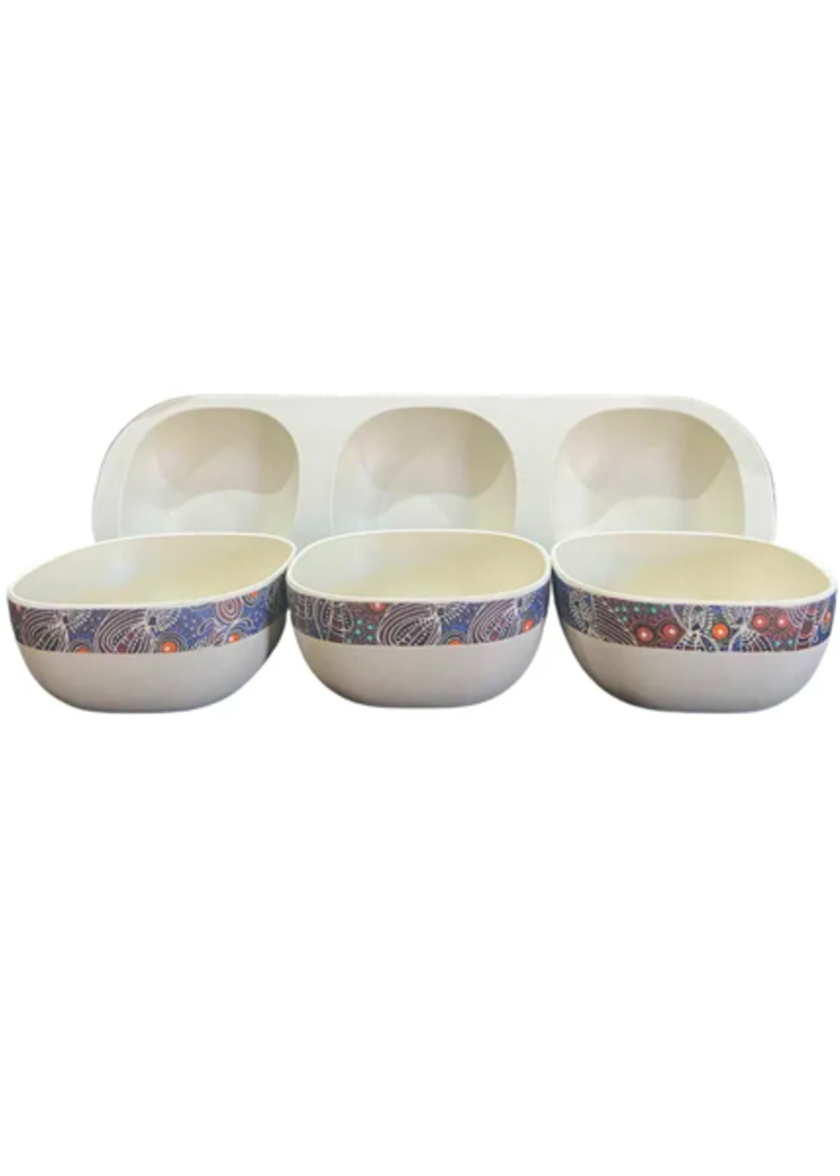 Utopia Bamboo Snack Bowl Set 147 - Colleen Wallace