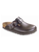 Birkenstock Boston - Smooth Leather in Dark Brown (Classic Footbed - Suede Lined)