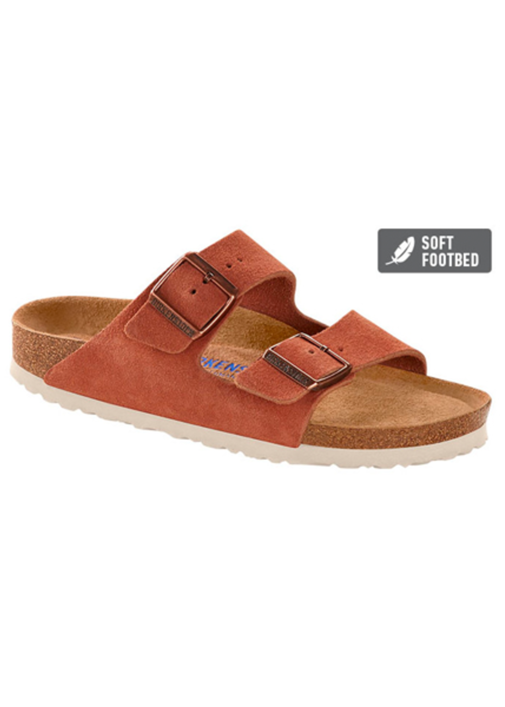 Birkenstock Arizona - Suede Leather in Earth Red (Soft Footbed - Suede Lined)