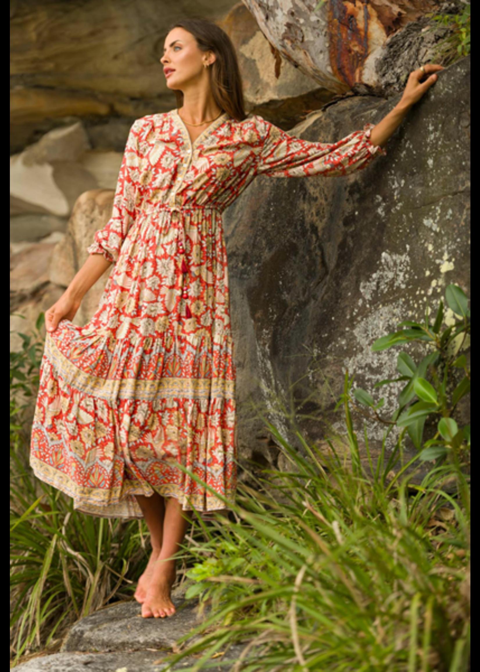 Aria Soul Maxi Dress in Cinnamon