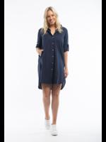 Orientique Essential Dress in Navy